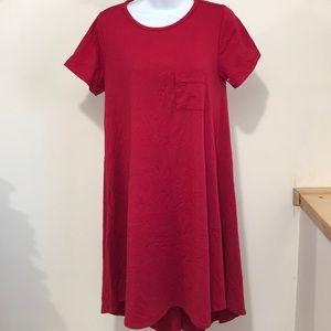 LuLaRoe women dress size S Color Red